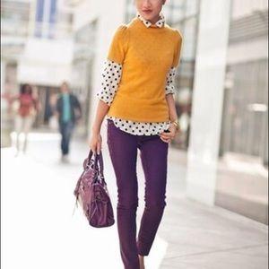 ZARA Mustard Short Sleeve Sweater